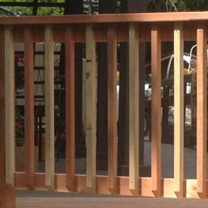 wood spindle handrail