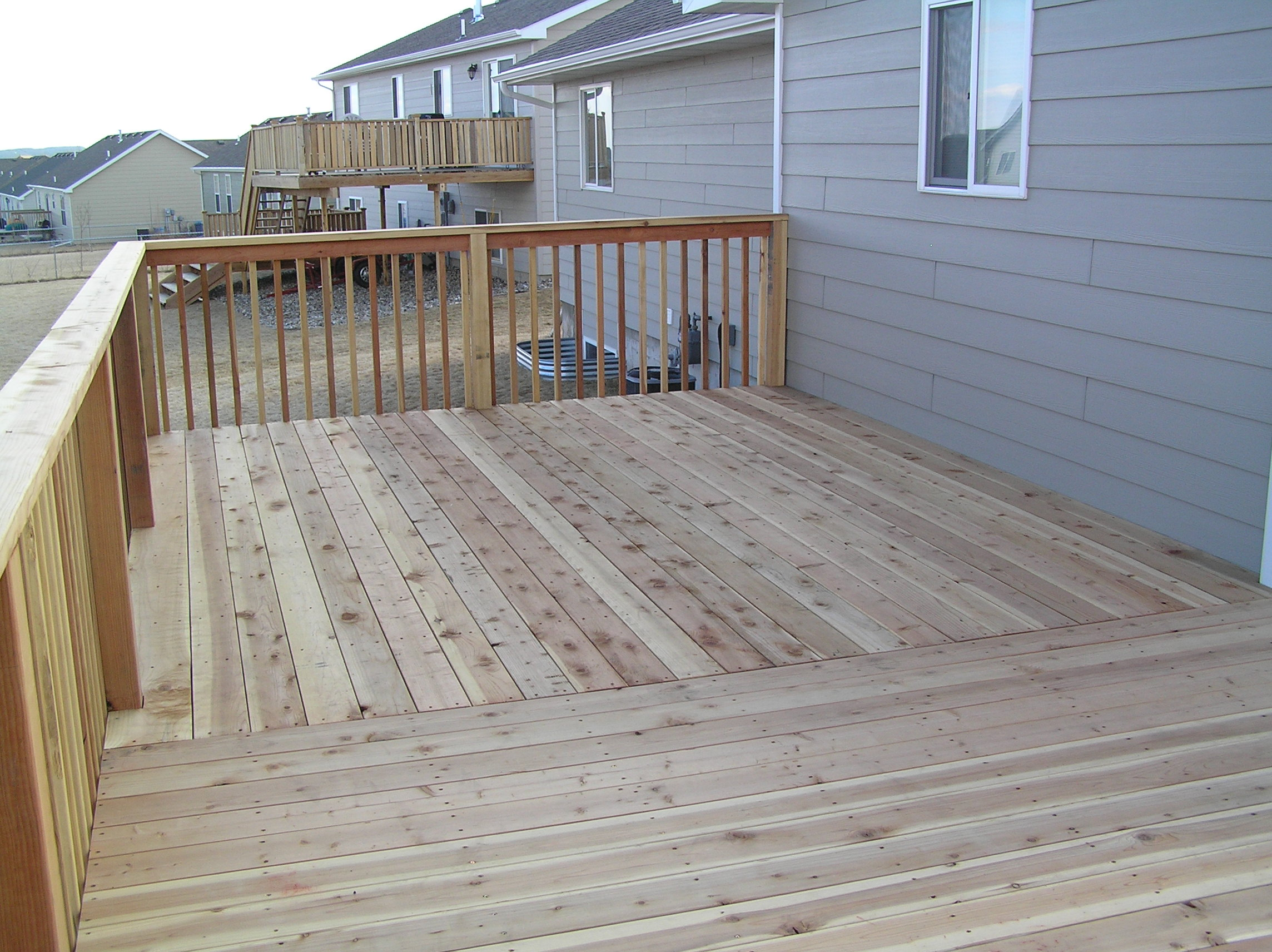 redwood deck addition