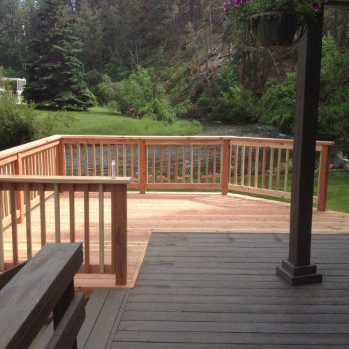 black hills redwood deck
