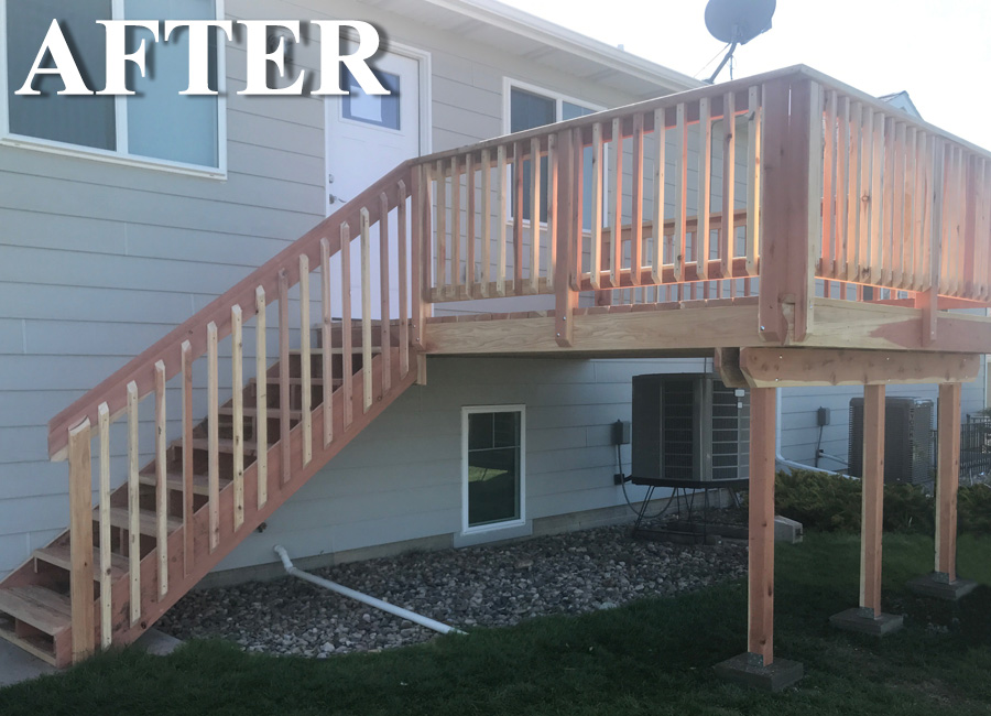 Wood Deck Replacement After