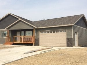 Wolter Construction Attached Garage on new construction build