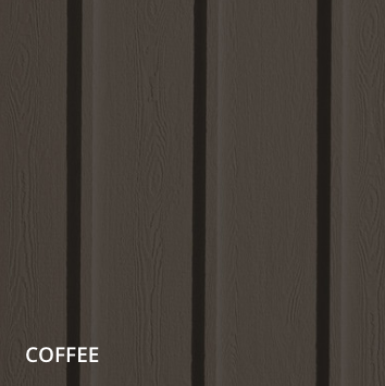 vertical siding coffee color